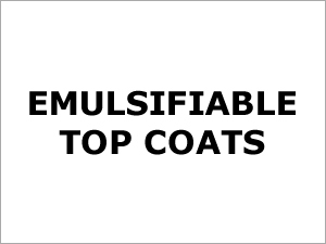 Emulsifiable Top Coats
