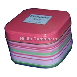 Square Tin Containers