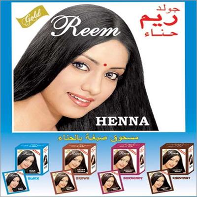 Gold Reem Black/Brown/Chestnut/Burgundy Henna