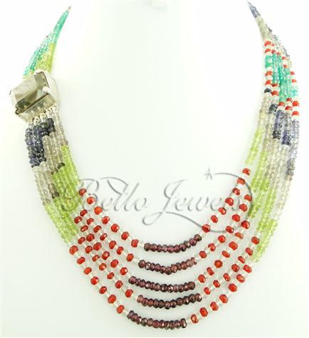 Multi Gemstone Bead Necklace