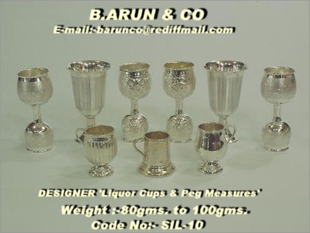 Silver Liquor Cups & Peg Measures