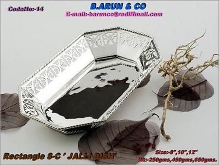 Silver Jalli Dish