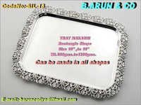 Rectangle Nakashi Silver Tray