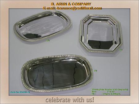 Silver Trays (Plain Boarder & EO Chupandal)