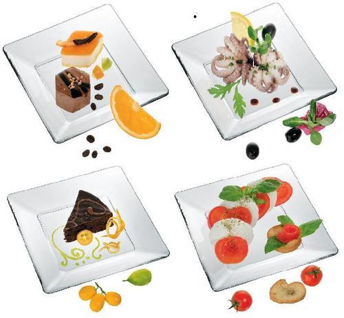 Glassware Square Plates