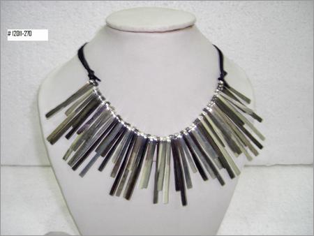 Designer Metal Necklace with Multi Color Plating