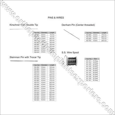 Kirschner Wire & Pin