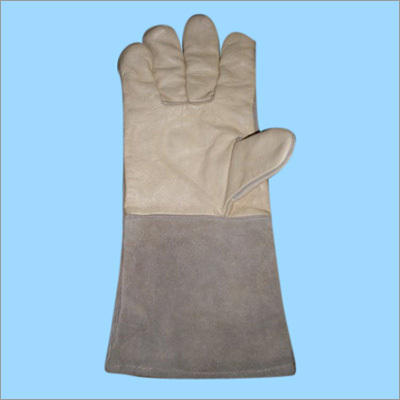 Combined Welding Long Leather Gloves