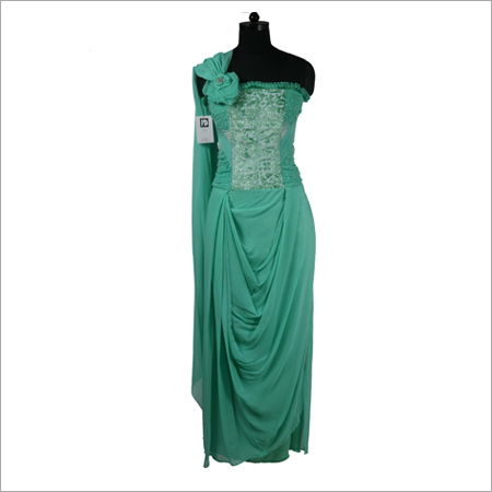 Sea Green Draped Sari