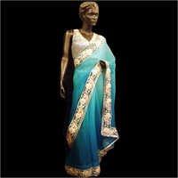 Dark & Light Blue Degrade Saree