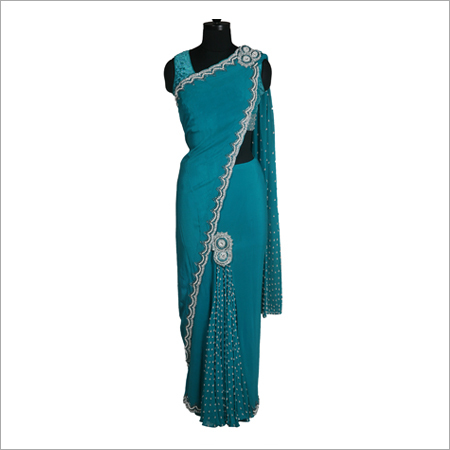 Designer Green Post Meridian Sari