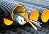 DWC HDPE Duct Pipe