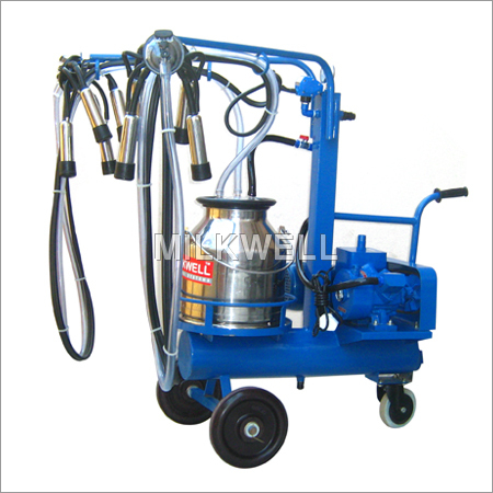 Single Bucket Double Cluster Milking Machine