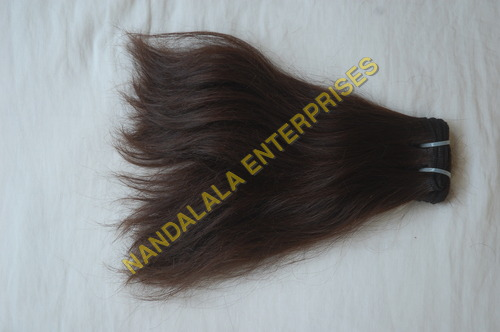Natural Brown Wefted Hair
