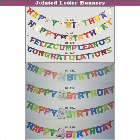 Jointed Letter Banners