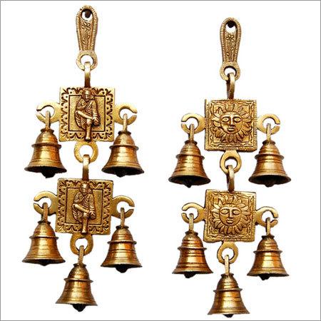 Brass Religious Figure Bells Set for Decor Home Brass Wall Decor