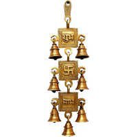 Brass Decorative 3 pieces Metal Bell Hanging Wind Chimes