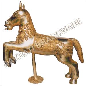Brass Antique Horse Statue
