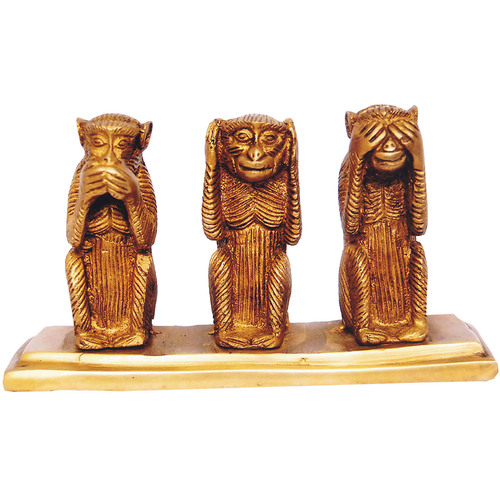 Three Monkey Set made in Brass by Aakrati