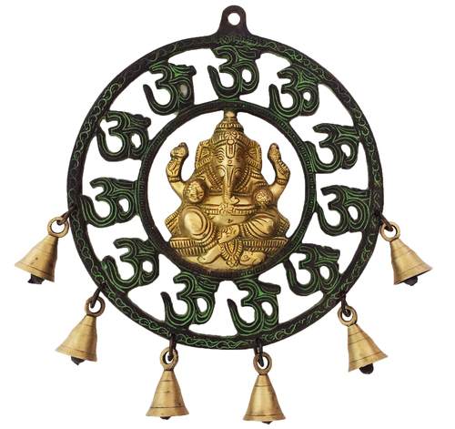 Lord Ganesha Glorious Wall Hanging with the Bell
