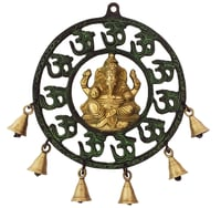 Lord Ganesha wind chime Decorative Wall Hanging Sculpture