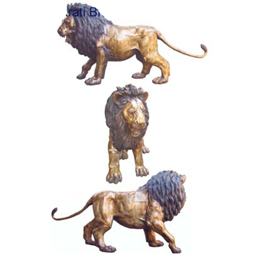 Standing Lion life size for out door and Garden decor - best decorative animal sculpture
