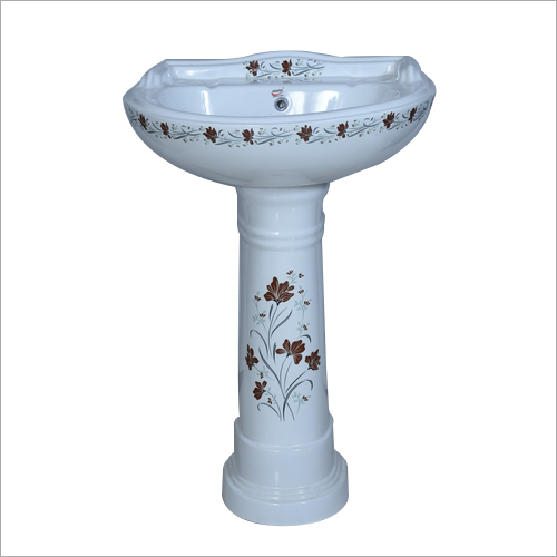 White Pedestal wash basin