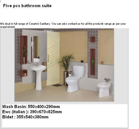 Bathroom sanitary ware Suites