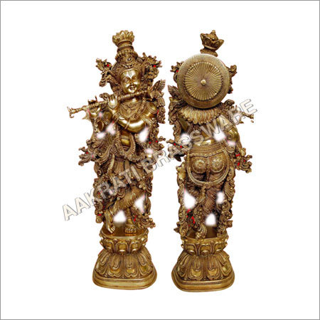 Religious Brass Krishna Sculpture