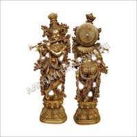 Religious Brass Krishna Sculpture