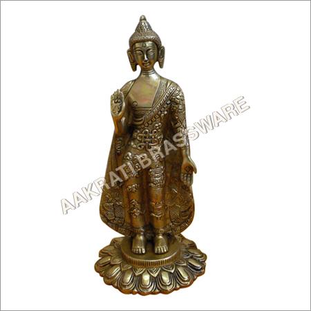 Buddha Antique finish Brass Statue