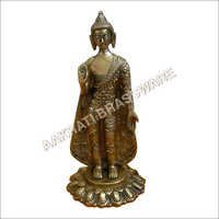 Buddha Antique finish Brass Statue