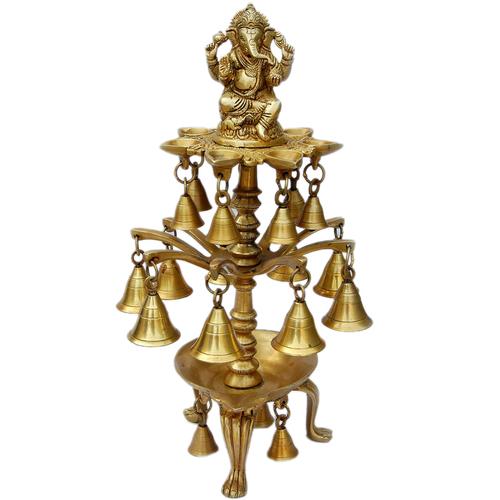 Decorative Brass Metal Oil Lamp