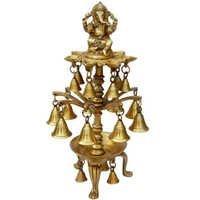 Supplier On Brass Handicraft  Ganesha Brass Metal Pooja Oil Lamps And Brass Deepak Stand