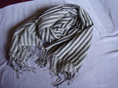 Silk Wool Stripe Stoles