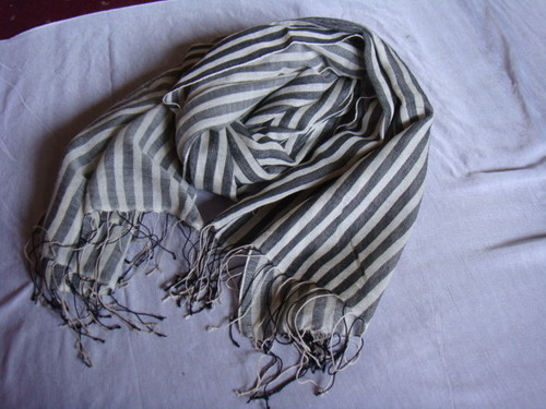 Silk Wool Stripe Stoles