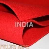Blood Red Colour Felt