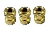 Diamond Knurling Brass Inserts