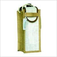 设计师黄麻瓶袋子