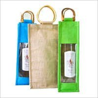 Jute Wine Bottle Bags