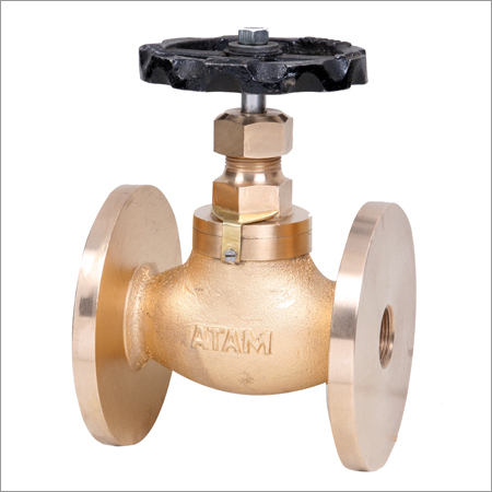 Bronze Globe Steam Stop Valve Flanged