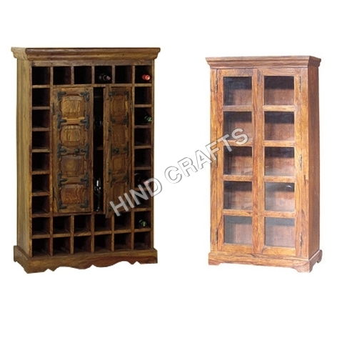 Antique Finish Wooden Almirah
