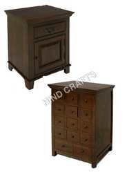 Wooden Bedside and Drawer Chest