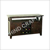 Sheesham Wood Wine Cabinet