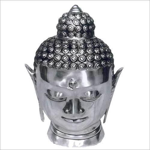 Meditating Buddha Head Sculpture