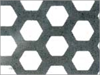 Hexagonal Holes Perforated Sheet