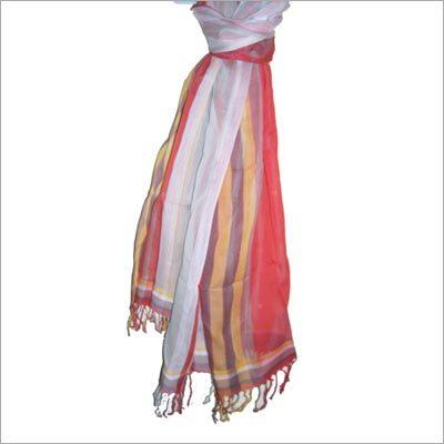 Cotton Silkwarp Stripe Scarf