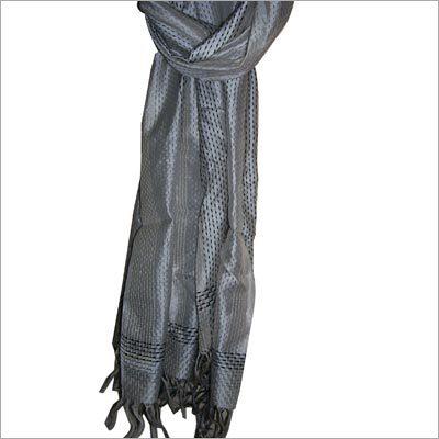 Cotton Inlay Silk Scarf