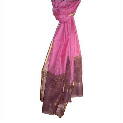 Silk Cotton Weft Stripe Scarf