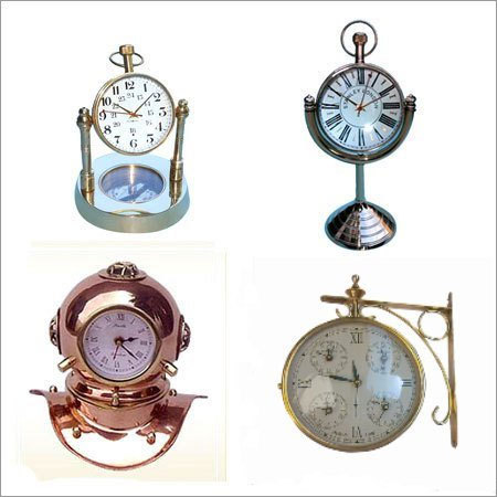 Brass Wooden Clocks
